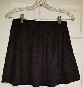 Candie's Lined Eyelet Skater Skirt